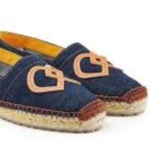 DSquared2 Denim Espadrilles Flats Shoes 41